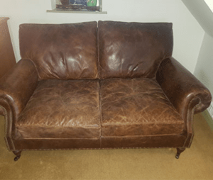 leather furniture cleaning before